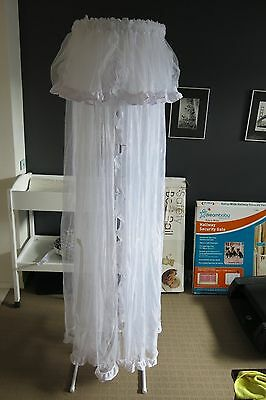 White Mosquito Net & Stand for Bedroom or Nursery