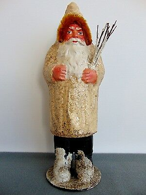 Antique German Belsnickle Santa Claus Christmas Candy Container 1930s