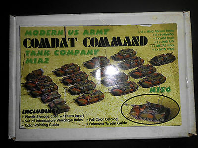 GHQ Modern Combat Command US ARMY Tank Company M1A2. 20 Models. Pewter.