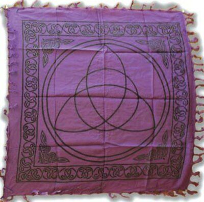 """Purple Triquetra Altar Cloth 36"""" x 36"""" Witch Wicca Pagan"""