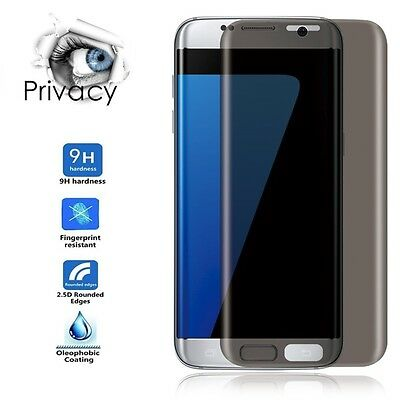 Privacy Full Screen Protector For Samsung Galaxy S7 Edge Anti-Spy Tempered Glass