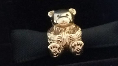 Authentic Pandora 14K Gold Teddy Bear Charm #750462#