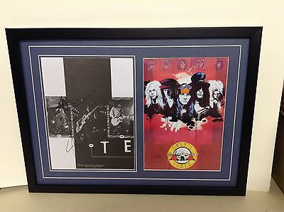 Guns n Roses Hand Signed/Autographed Poster and COA