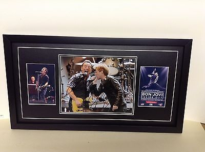 Bruce Springsteen & Jon Bon Jovi Hand Signed/Autographed Photograph with COA