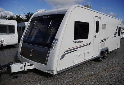 2012 Elddis Crusader Super Sirocco 4 Berth Fixed Bed Leather Upholstery Caravan