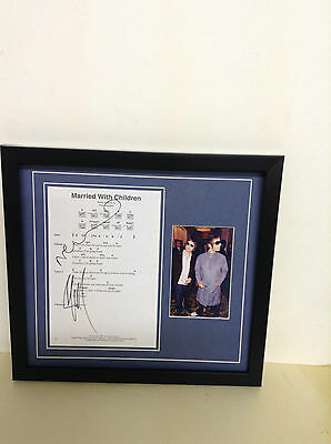 Oasis (Noel & Liam) Hand signed songsheet with Photo & COA
