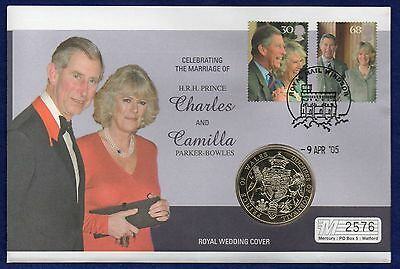 GB, Prince Charles & Camilla, 2005 Royal Wedding Medal Cover (Ref. t0089)