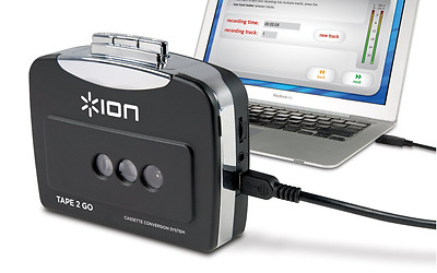 ION Audio Tape 2 Go | Portable Analog to MP3 Digital Cassette Converter/Player M