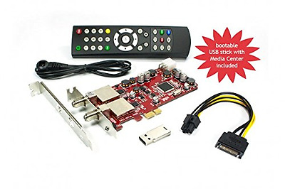 DVBSky S952 V3 PCIe card (low profile) with 2x DVB-S2 tuner (Dual Twin Tuner), p