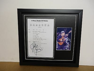 Paul Simon Hand Signed/Autographed Songsheet with a Photograph and COA