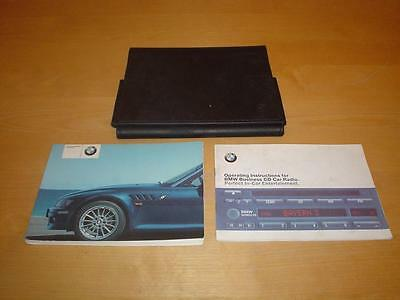 BMW Z3 E36 ROADSTER & COUPE 1.9i 2.2i 3.0i Owners Handbook Manual Wallet Book