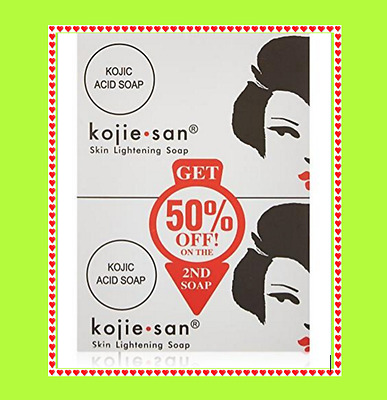 3 X 100% Genuine Kojie San Kojic Acid Soap Skin Lightening Kojiesan Whitening