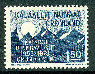 GREENLAND 1978 stamp Constitution 25th Anniversary um (NH) mint