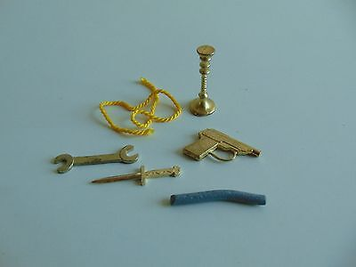 Vintage Cluedo Game Spare Part - Weapon - Choose from Menu