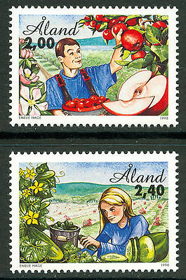 ALAND 1998 stamps Horticulture um (NH) mint Food Fruit Trees Flowers