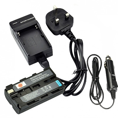 DSTE® Rechargeable Li-ion Battery + Charger DC01U for Sony NP-F550, NP-F330,