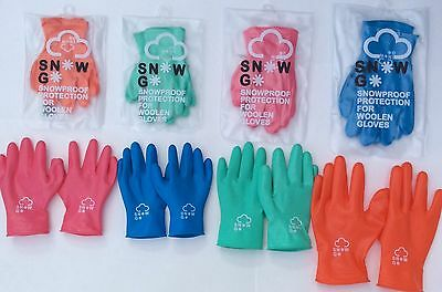 Kids Childrens Winter Waterproof Rubber Latex Gloves Cold Protection Snow-Go