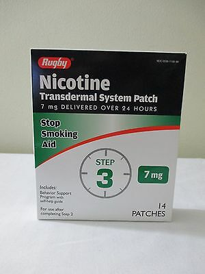 14 Rugby 7 Mg Nicotine Patches Step #3 Expires 8/2017 Stop Smoking Aid Free Sh