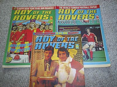 ROY OF THE ROVERS COMICS x 3 - 1979