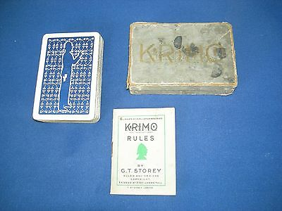 Vintage Card Game - Krimo - By G.t.storey -