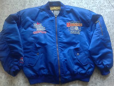 American Football Jacket London Monarchs 1991 Size L to XL Eur 52/54 Blue
