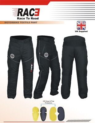 RAC3 Mens Textile Waterproof CE Armoured Motorbike Motorcycle Trousers / Pants