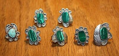 Malachite and Turquoise rings 7 (100)