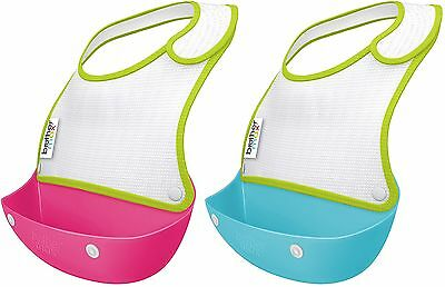 Brother Max CATCH & FOLD BIBS Feeding/Weaning 2 Bib Set Baby/Toddler Food BN