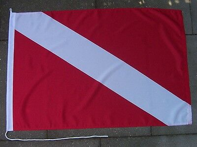 Int. Taucherflagge Flagge Fahne Diving Diver Down Flag Drapeau Plongeur MD