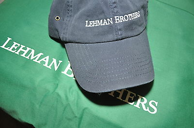 Lehman Brothers ~ Blue Vintage Sports Cap &  Embroidered & New!