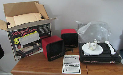 Vintage Working Michael Jackson Vanity Fair Ertl Stereo Record Player Box USA