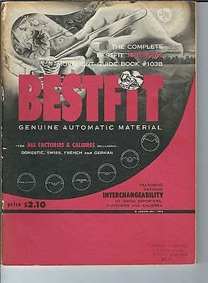 MF-117 Bestfit Genuine Automatic Material #103B Guide Book 1958 Watch Clocks Vtg