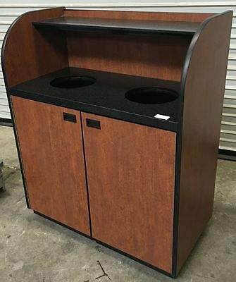 Trash Waste Bin & Inner Can Liner on Wheels #4816 Commercial Restaurant Heavy Du