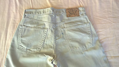 Levis 551 Vintage Needle Cord Straight Jeans W32 L30 Button Fly White Tab Grey
