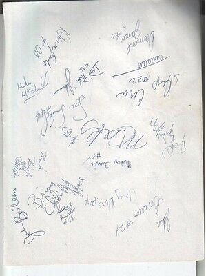 1994 Canisius Golden Griffins Autographed Page by 16  NCAA Basketball