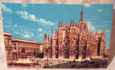 Post Card Milano Italy Monument Victor Emmanuel II