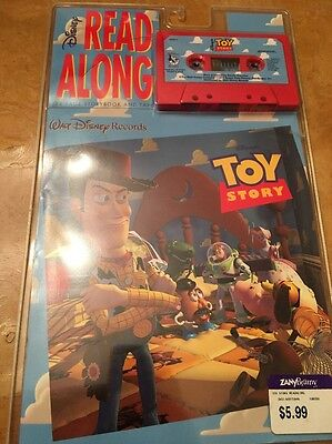 Disney Read-Along Book with Cassette . NIP . TOY STORY . 1995