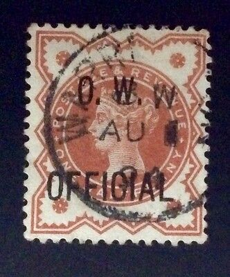 SG031 OFFICE OF WORKS 1/2d VERMILLION OFFICIAL STAMP Used