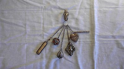 Antique Chantelaine Sewing Pre- 1930's Sterling Silver