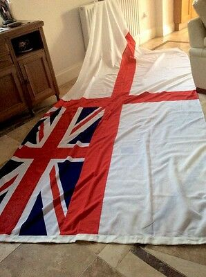 Large Quality Cotton Sewn British Naval Flag 12Ft. X 5Ft10Ins.