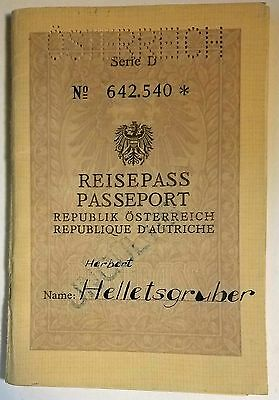 Austria 1965 Reisepass Travel Document East German Border stamps