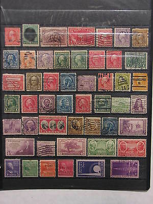 United States lot of 49 stamps - 1890's-1930's, Used