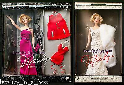 MARILYN MONROE Timeless Treasures & How to Marry a Millionaire Barbie Doll Lot 2
