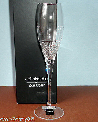 Waterford John Rocha Muse LEDA Flute Clear Cut Crystal 159519 New In Box