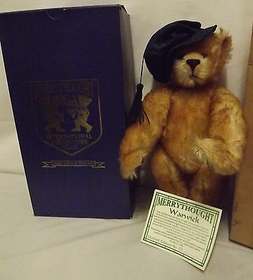"Boxed 15"" Merrythought Mohair Teddy Bear 'warwick' Collector's Club Ltd. Ed."