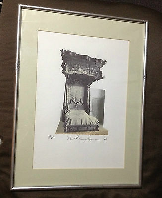 Ivor Abrahams RA 1976 SIGNED limited edition print FRAMED abstract Poe