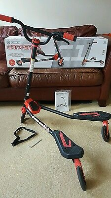 Fliker Carver C1 with box & instructions. Hardly used. Red & Black. Age 5+