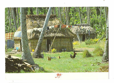 Fiji Postcard Typical village Life in Fiji Classic Collection Thatched Roof