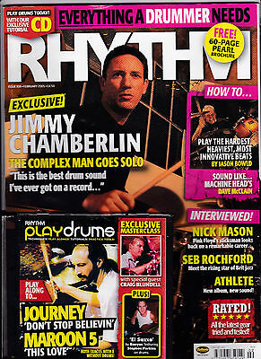 RHYTHM Magazine 108 February 2005 - JIMMY CHAMBERLAIN Cover With JOURNEY CD
