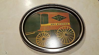 Vintage The Great Atlantic & Pacific Tea co. Metal Serving Tray